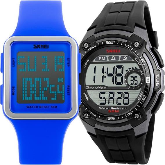 Kit Relógio Feminino E Masculino Skmei Barato Kit50615033