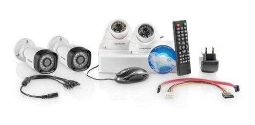 Kit Segurança Cftv Dvr Ahd 720p E 4 Câmeras Cabo 100m Se118