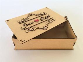 14 Caixa Mdf Convite Padrinhos Casamento 9cm
