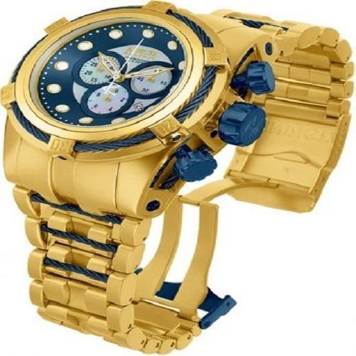 Relógio Gfr8563 Invicta 12742 Bolt Zeus Dourado Fundo Azul