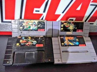 Super Nintendo/ 4 Juegazos Clásicos Originales