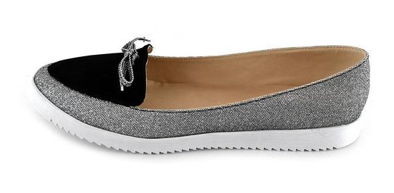 Zapatos Dama Valerinas Flats Mujer Mayoreo Modelo 213 Negro