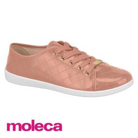 Tênis Feminino Casual Verniz Fresh Neo Rose Moleca 5605207