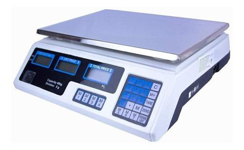 Báscula comercial digital Just Home MKZ-BAS-ACS209 40kg 110V/220V blanco 34.5 cm x 24 cm