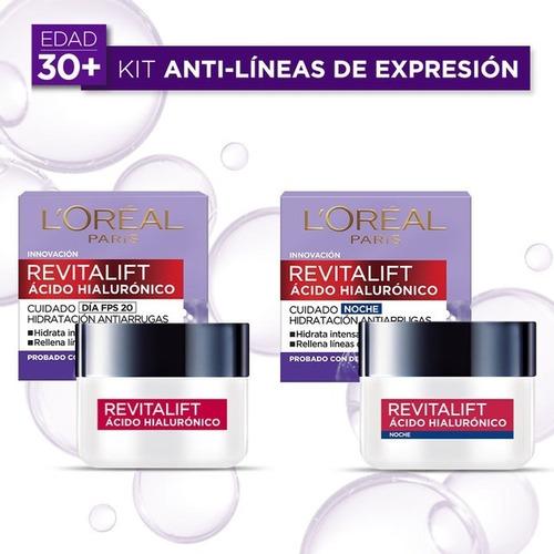 Imagen 1 de 6 de Kit Revitalift Cuidado Facial: Crema De Día + De Noche 50ml