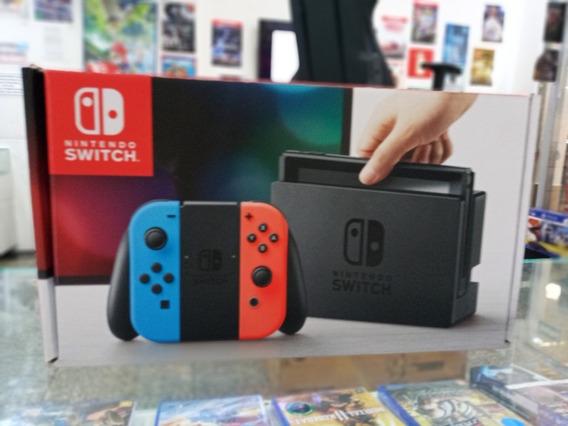 Console Nintendo Switch Neon 32gb Novo Completo