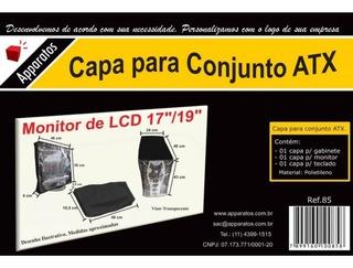 Capa Para Pc- Computador Kit 3 Em 1(tela 17 / 19 Lcd+torre+tecl