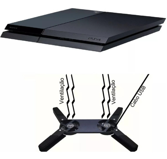 Cooler Notebook Universal Portátil Ps2 Ps3 Xbox One Ps4 Slim
