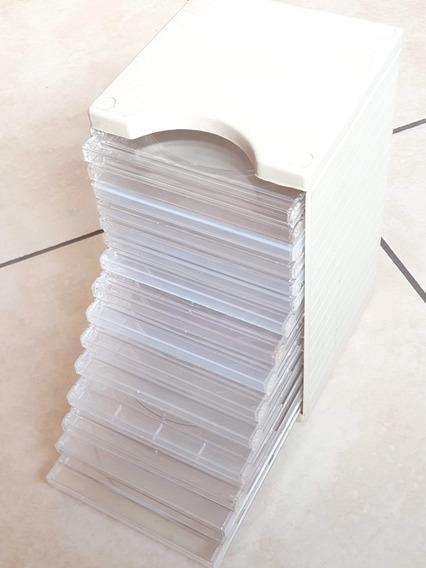 Caixa Capa Dvd Acrilico Porta Cd 15 Unidades Transparentes