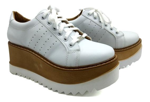 Zapatilla Plataforma Zapatos Mujer Base De Goma Simil Madera