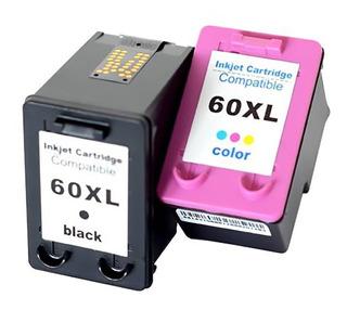 Combo Cartuchos Alternativos Para Hp 60 Xl Negro Y Color