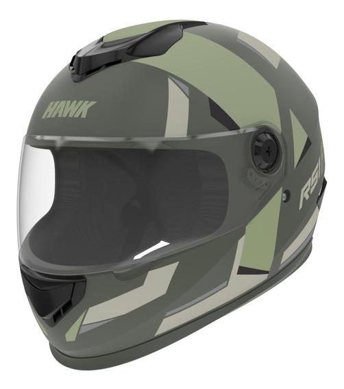 Casco Moto Hawk Rs1 F Integral Verde Tienda Oficial