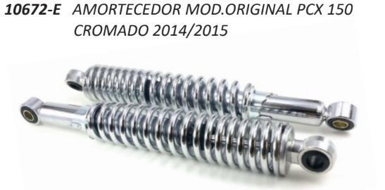 Amortecedor Pcx150 14-15 Cromado / Par Oferta Especial