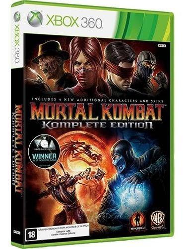 Mortal Kombat Komplete Edition Xbox 360 Mídia Fisica Port