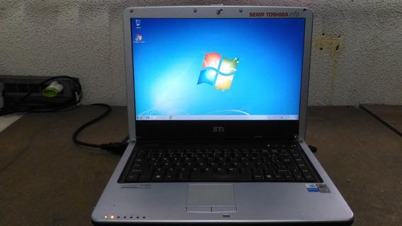 Notebook Sti Semp Toshiba Is1421 - Hd 80 Gb - Bateria Ruim