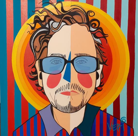 Tela Tim Burton - Artista Plástica Veridiana