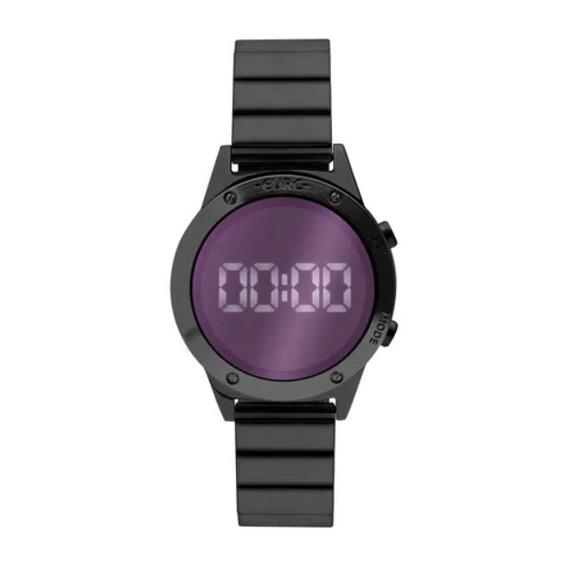 Relógio Euro Feminino Digital Espelhado Preto Eujhs31bad/4g