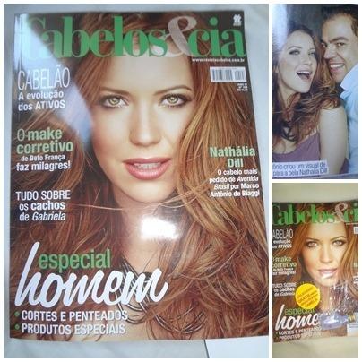 Revista Cabelos E Cia Nº 198 Ano 17. Ago/12 - Nathália Dill