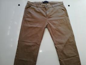 Pantalon Zara Man Basic Elasticado Pitillo Tal: 42