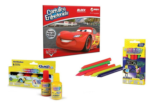 Kit De Arte Para Jugar Cars Disney Muresco