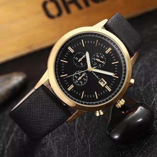 Relógio Masculino Amuda Dourado A Prova D