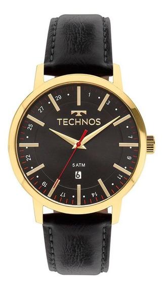 Relógio Technos Masculino Classico Pulseira De Couro