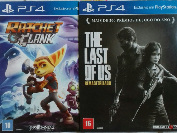 The Last Of Us/ Ratchet Clank Ps4 Midia Fisica.