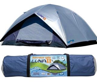 Barraca Acampamento Camping 6 Pessoas Impermeável Luna Mor