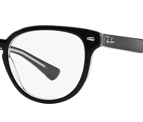 f7174e1ca Armação Óculos De Grau 5311 Da Ray Ban Redondo Preto - R$ 113,00 em Mercado  Livre