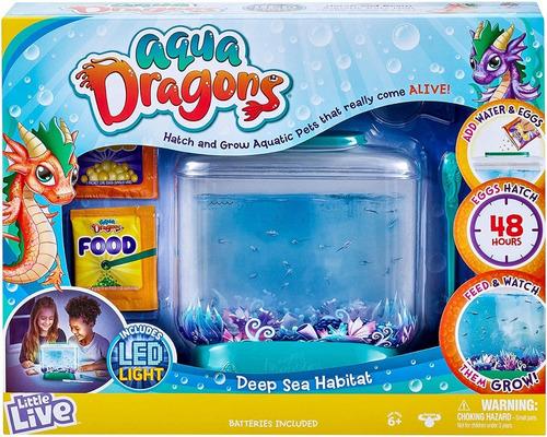 Juguete Hábitat De Mar Profundo Little Live Aqua Dragons