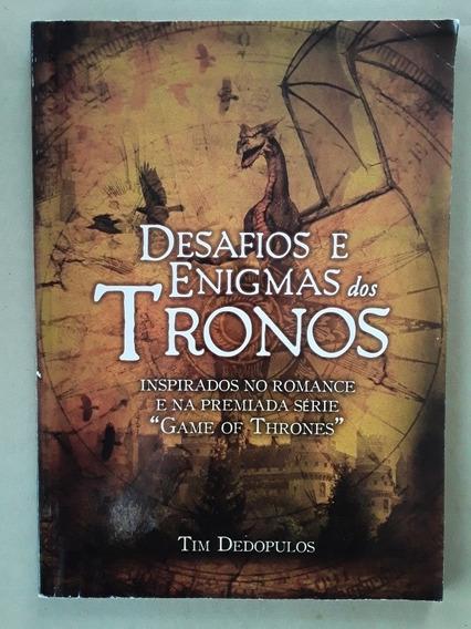 Livro Desafios E Enigmas Dos Tronos - Game Of Thrones