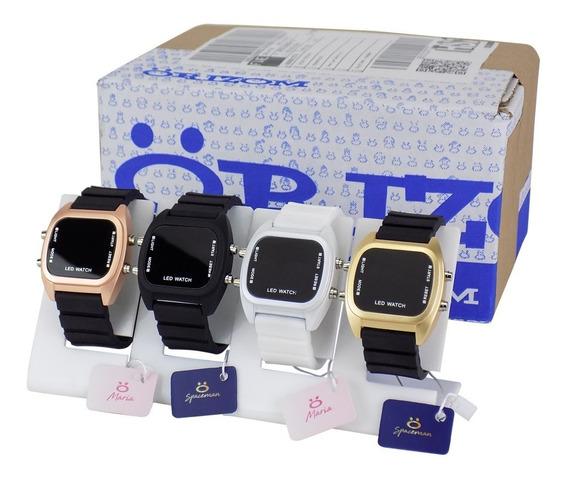Kit 4 Relógio Pulso Digital Led Masculino Feminino C/ Nf-e