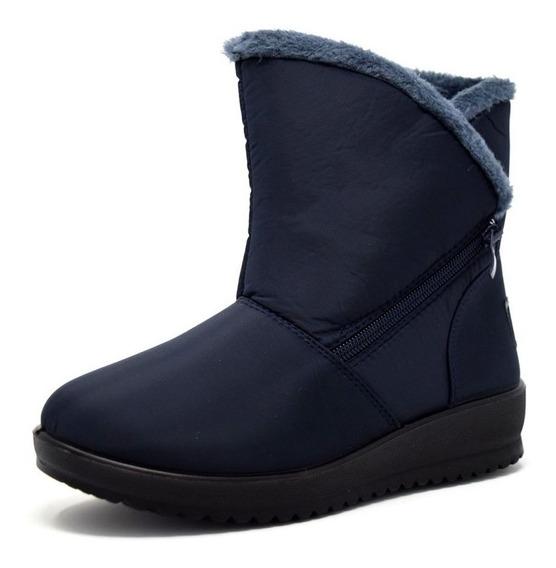 Botas Frio Invierno Nieve Furor Impermeable Calientitas Azul
