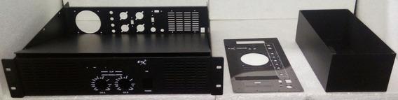 Caixa Potência De Amplificador + Gabinete Caixa Ativa