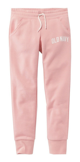 Pants Niña Jogger Cintura Elástica Ajustable Rosa Old Navy