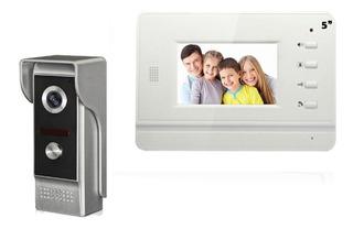 Kit Videoportero Interfon Pantalla 4 Color Video Portero Hd