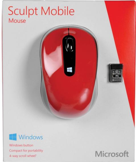 Mouse Optico Inalambrico Usb Microsoft Sculpt Mobile Rojo