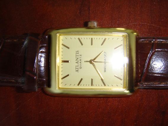 Relógio Masculino Atlantis Quartz Social Couro.