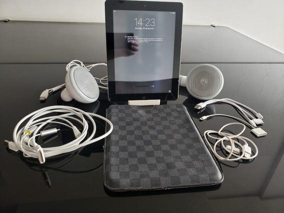 iPad 64gb Mod. A1395 C/ Capa Louis Vuitton, Base E Cabos