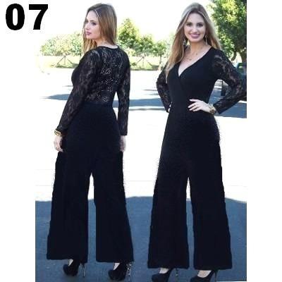 9bf4c4507 Macacão Feminino Pantalona Longo Para Festas - R$ 149,00 em Mercado Livre
