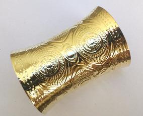 1 Par Bracelete Dourado Grande Moda Egípcia