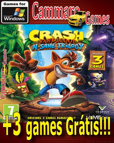 Crash Bandicoot N. Sane Trilogy Completo + 3 Games Grátis