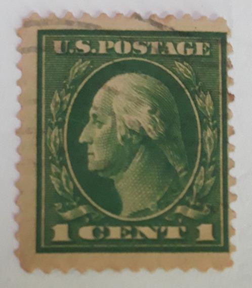 Estampilla Estados Unidos George Washington 1 Centavo 1922