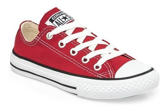 Zapatillas Converse All Star Rojo Blanco Niño Exclusivas