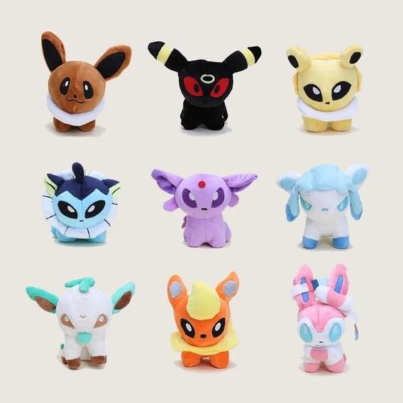Set De Evee & Sus Evoluciones + Pokémon Center (incluye 9 )