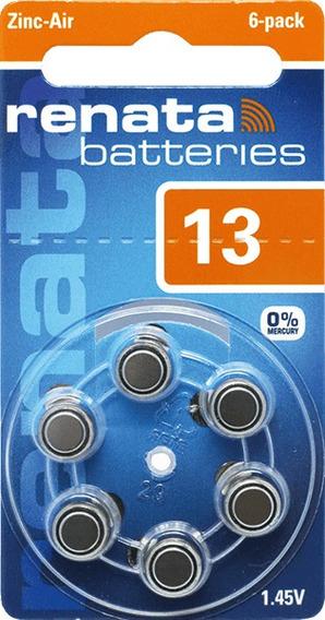 60 Pilha Aparelho Auditivo 13 Bateria Auditiva Za13 Renata