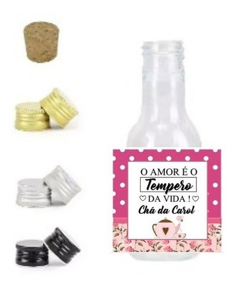 30 Mini Garrafinha Pet Cristal Personalizadas Qualquer Tema