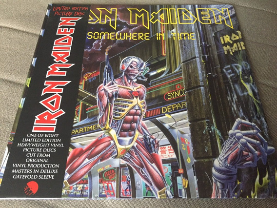 Lp Iron Maiden Somewhere In Time Picture Disc Novo Lacrado