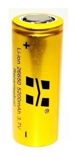 Kit Carregador E Bateria 26650 Original Hy Para Lanternas