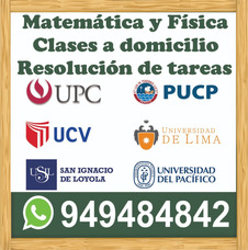 Profesor De Matematica A Domicilio 949484842